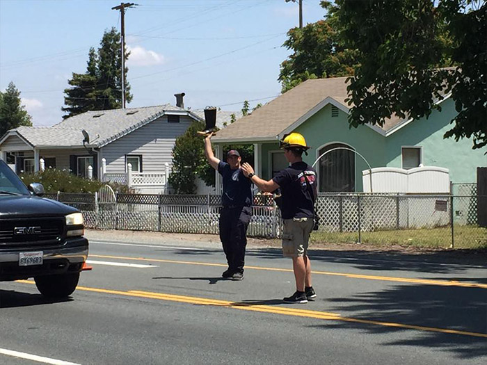 Firefighters Helping the Community