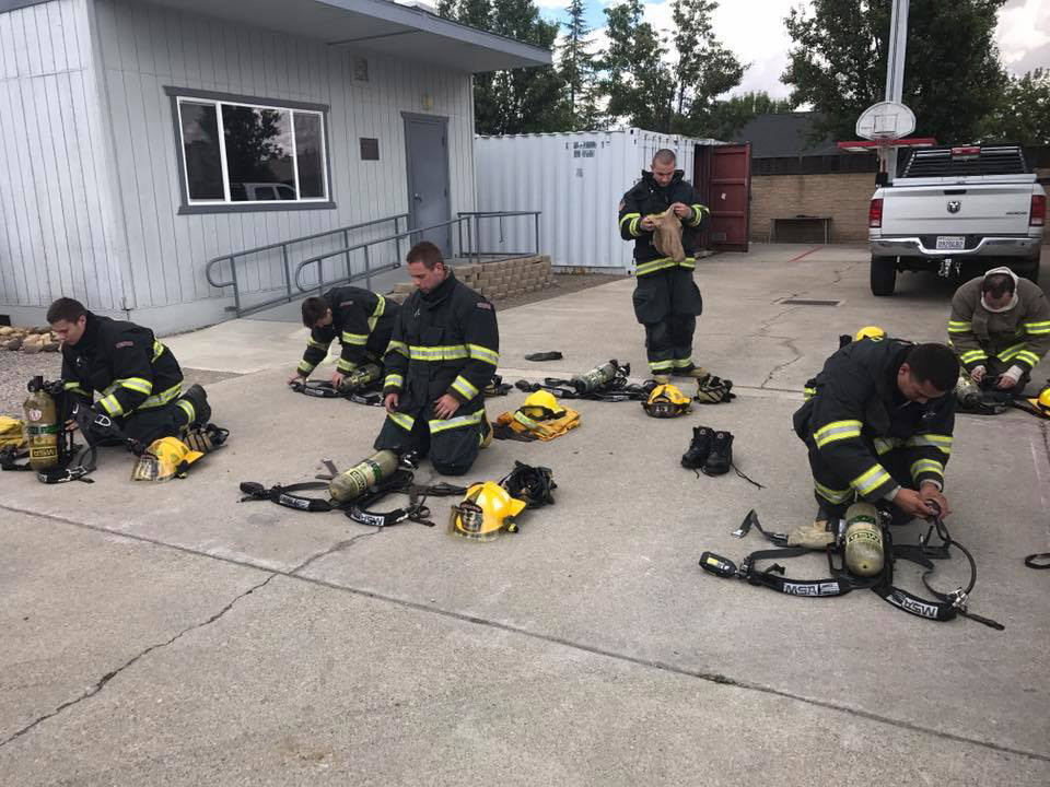 Outdoor Firefighter Training